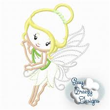 Embroidery Fairy Designs Flying Fairy Applique Design Machine Embroidery Files Digital Download