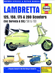 haynes service and repair manual for lambretta scooters scootering if like me your first scooter was a vespa then there s a good chance you own a haynes vespa workshop manual i had one for my vauxhall viva van and old