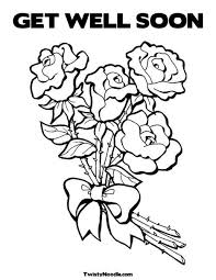Small Picture Get Well Soon Flowers Coloring Coloring Pages