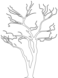 Small Picture Bare Tree Outline coloring page Free Printable Coloring Pages