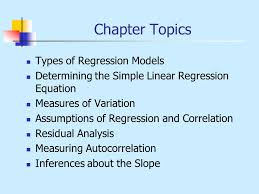 chapter forecasting simple regression ppt video online chapter topics types of regression models
