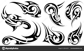 Sada Tetování Tribal Umění Stock Vektor Akvlv 225413478