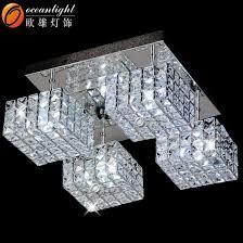 chandeliers led pendant light square modern crystal chandeliers lighting om55001