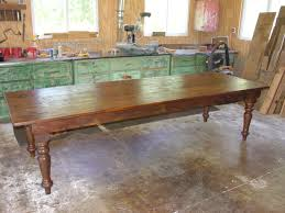 10ft x 36 eastern white pine farm table and savage style hand turned legs