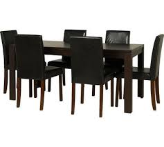 fully assembled penley extendable dining table 6 chairs black