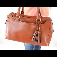 Coach Cognac Legacy Haley Satchel