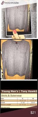 Tony Hawk Young Mens Sweatshirt Tony Hawk Sweatshirt Size