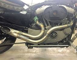 twisted choppers 2 into 1 header custom exhaust drag pipe harley