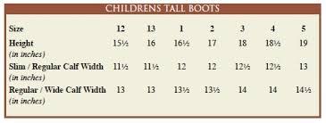 Childrens Size Chart
