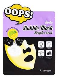 Маска-<b>пилинг для сияния кожи</b> Oops Soda Bubble Mask Brighten ...