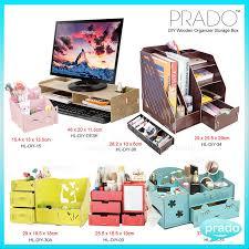 prado diy wood desktop office organize makeup creative collect