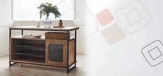 Industrial Kitchen Furniture Tinwood Industrial Kitchen Island Dining Table Dining Tables