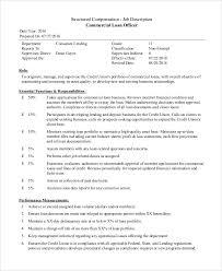 Sample Loan Officer Job Description 8 Examples In Pdf Word