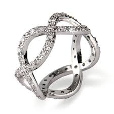 infinity band ring. infinity band ring h