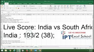 Cricket Score Card Format How Can Get Live Cricket Score In Excel Sheet