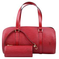louis vuitton red epi leather soufflot bag w accessory pouch nextprev prevnext