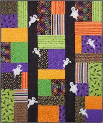 221 best Quilts ideas images on Pinterest | Fused glass, Hand ... & Spooks on Parade Quilt Kit Adamdwight.com