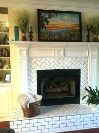 tile brick fireplace surround herringbone pattern subway tile fireplace hearth and surround update home interiors and