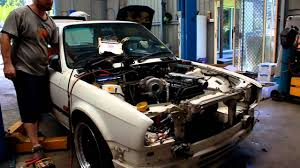 BMW Convertible toyota bmw alliance : 2JZ Turbo BMW e30 first start up - YouTube