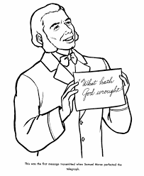 Small Picture Samuel Morse Coloring Page CCS 4th Grade History Pinterest
