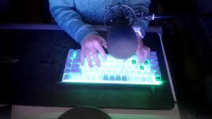 Zorro Black Lights Keyboard Typing Ajazz Ak33 Zorro Black 65 Wpm
