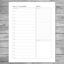 Agenda Planner Template Printable Minimalist Daily Planner Daily Schedule Daily 11