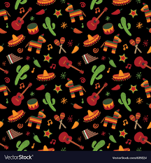 Mexican Pattern Interesting Mexican Pattern Royalty Free Vector Image VectorStock