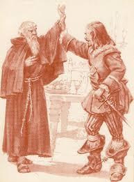 Don Rodrigo ferma il braccio di Fra' Cristoforo