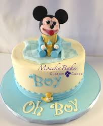 Baby Shower Cakes  Cest Si Bon BakeryBaby Mickey Baby Shower Cakes