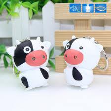 Amazon Com Fomoisclu Lovely Cartoon Cow Led Light Key