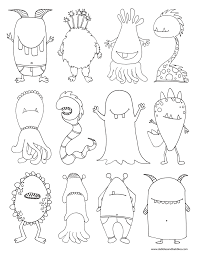 Monters Coloring Page Pdf