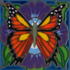 art tile designs. Beautiful Tile Monarch Butterfly  Hand Painted Art Tile To Designs L