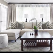 love this look for curtains with sheer underneath for living room privacy without