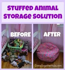 Jones *Marlie might need a bean bag cover for her birthday * Animal Storage  Idea. Simple bean bag cover (Bed Bath Beyond) and fill with stuffed animals.