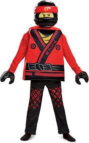 Amazon.com: Disguise Kai Lego Ninjago Movie Deluxe Costume, Red, Medium  (7-8): Toys & Games