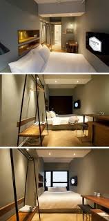 functional furniture for small spaces. these small hotel rooms make the most of their space with multifunctional furniture bed doubles as a couch and general relaxing area coat rack functional for spaces