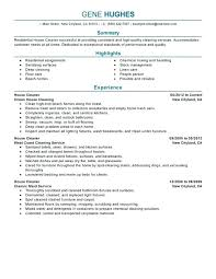 Cleaning Resume Cover Letter Housekeeping Resume Entry Level Resume Interesting House Cleaning Resume