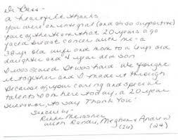 Touching Thank You Note For Life-Restoring Work By Dr. Bass Thank ...