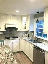 grey and white tile glass subway kitchen gray colors with grout backsplash