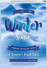 Winter Flyer Template Winter Season Flyer Template V24 By ThatsDesign GraphicRiver 3