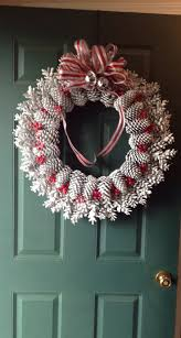 Pinecone wreath and we should do this!