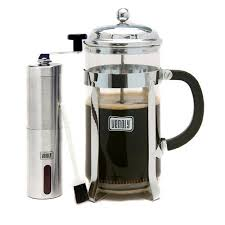 This popular method uses a cylindrical glass carafe and a stainless. Venoly Venoly 8 Cup French Press Coffee Maker With Burr Grinder Walmart Com Walmart Com