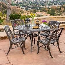 cast aluminum patio chairs. Image Is Loading Outdoor-Patio-Furniture-5pcs-Bronze-Cast-Aluminum-Dining- Cast Aluminum Patio Chairs V