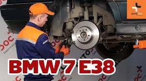 BMW 5 Series best brake pads for bmw : How to replace rear brake discs and brake pads BMW 7 E38 TUTORIAL ...