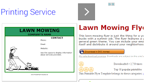 Free Lawn Mowing Flyer Template Grass Cutting Flyer Templates Lawn Care Grass Cutting Business Card