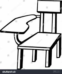 desk clipart black and white. black and white school chair desk clip art sofa chairs winafrica armchair clipart
