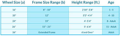Sizing Chart Beachbikes