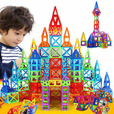 Designer Gifts For Toddlers 72pcs Magformers Big Size Diy Blocks Magnetic Constructor