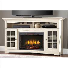 home decorators collection avondale grove 59 in tv stand infrared electric fireplace in aged white 365 166 165 y the home depot