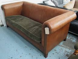 ralph lauren sofa. RALPH LAUREN SOFA, High Arms And Back In Brown Leather With Studded An Ralph Lauren Sofa